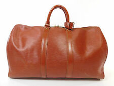 Vintage Louis Vuitton Epi Leather Keepall 45 Duffle Bag Suitcase Purse Brown 256