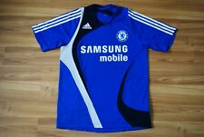 CHELSEA FC 2007/08 TRAINING SHIRT BLUE SIZE MENS SMALL JERSEY SAMSUNG ADIDAS