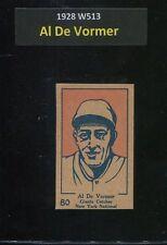 1928 W513 #80    Al De Vormer     Giants    Super SHARP!!       LOOK!!!!