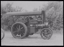 Glass Magic Lantern Slide  TRACTION ENGINE MONTY DATED 1960 PHOTO HALL WORCESTER