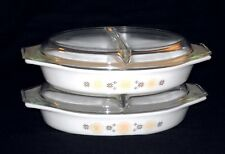 """2-Piece Lot-Pyrex TOWN & COUNTRY Ovenware 12 1/2"""" Divided Vegetable Dish #29"""
