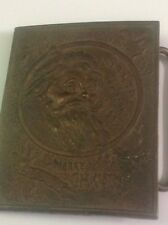 TIFFANY & CO N Y LONDON BRONZE BUCKLE SIGNED A J NASH A COL FOR PRESIDENT 1927