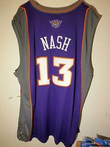 Adidas Authentic NBA Jersey Phoenix Suns Steve Nash Purpl Throwback Jersey sz 52