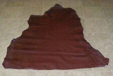 NIA8023-2) Part Hide of Burgundy Cow Leather Hide Skin