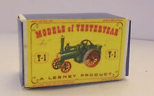 Repro Box Matchbox MOY Nr.01 Alchin Traction Engine