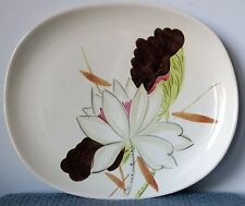 """Red Wing Pottery ~ """"Lotus Bronze"""" ~ 13"""" PLATTER with ROUNDED CORNERS ~ 1940s"""