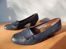 Vintage Florsheim Navy Leather Tassle Bar Shoes Swing Rockabilly Retro Heels 6.5