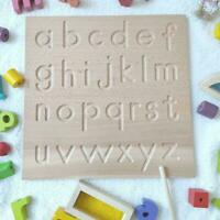 Wooden Board Numbers Tracing 0-9 Writing Practice Kids Educational F4R2
