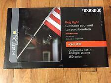 0388000 Portfolio Landscape Flag Pole Light Solar Led New 388000