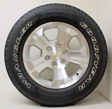 "New Takeoff Chevy Z71 Silverado Tahoe 18"" Wheels Rims OWL Goodyear Tires, LUGS"