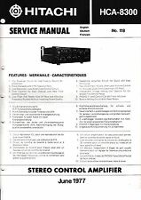 instrucciones Manual de servicio para Hitachi HCA-8300