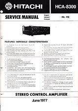 Service Manual Instructions for Hitachi hca-8300