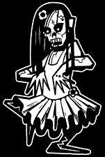 Girl Zombie Walking Dead Family Vinyl Decal Sticker