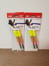 """2 Pack Eagle Claw Pencil Stick Floats -  Size 1/2"""" X 6"""" -  PFPST12 - (2) 2 packs"""