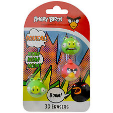 Angry Birds 3D erasers pencil rubbers stocking fillers