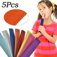 5PCs Icy Pole Ice-lolly Holder Cooler Sleeve Stubby Ice Pop Cover Reusable