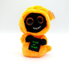 "6"" TY Beanie Boos With Tag 2018 Orange Halloween Ghoul Grinner Plush Stuffed Toy"