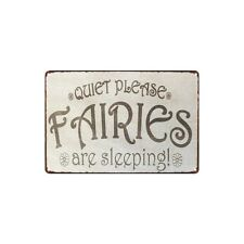 Metal Tin Sign quiet please fairies  Decor Bar Pub Home Vintage Retro Poster