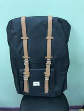 Herschel Supply Co. Little America Backpack Back Pack Black Tan NEW AUTHENTIC