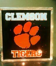 Lighted Clemson Tigers Glass Block Light~ Home Decor~Gift~Lamp