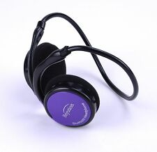 Purple HiFi Stereo Sport Bluetooth Headphone headset for CellPhone/Laptop/Tablet