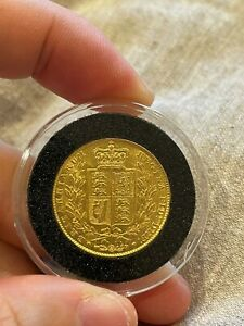 *RARE NEAR MINT* Queen Victoria - Shield 1842 Full Gold Sovereign,Young Head