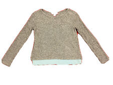 Girl Top Size 8 10 Gray Blue Two Layers Long sleeve