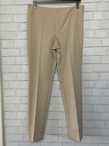Akris  Womens Trousers Slacks Beige Cream Tan  Wear to Work  Size US 12