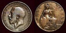 GREAT-BRITAIN Grande-Bretagne Half penny 1920 George V