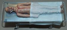Dollhouse miniature handcrafted 1/12th scale Autopsy body on table Medical
