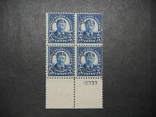 CANAL ZONE 74 PLATE BLOCK OF FOUR MINT  NH OG