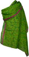 Pashmina  Schal Baumwolle Seide, bedruckt Sommer scarf Grün cotton silk summer