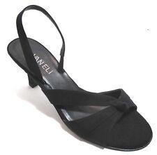 Van Eli Laban Womens Black Open Toe Slingbacks  Evening Shoes Size 6.5N NEW