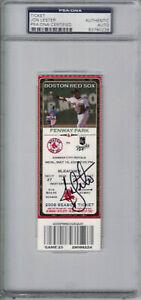 Jon Lester Signed Boston Red Sox No Hitter Ticket vs Royals PSA Slab 24395