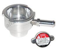 WELD ON ALUMINUM RADIATOR FILLER NECK + 1.1 BAR RADIATOR CAP