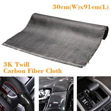3K Carbon Fiber Cloth Fabric Plain 2/2 Twill Weave 36''x12'' For Car 91x30cm AU!