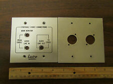 Front Panel Set, Audio Codec Monitor Connections Thick Aluminum