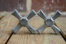 Vintage Cold and Hot Metal Cross Faucet Handles