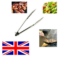 Stainless Steel Salad Tongs Food Serving Cooking Utensil Tong Kitchen BBQ