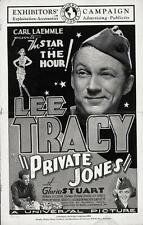 PRIVATE JONES pressbook, Lee Tracy, Gloria Stuart, Donald Cook, Emma Dunn 1933