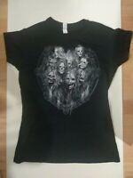 Vintage Slipknot Seven T Shirt Graphic Print Front & Back Black Size Large Ladie