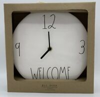 "RAE DUNN Artisan Collection LL ""Welcome "" 9"" Ceramic Wall Clock By Magenta NEW!!"