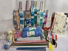 Vintage Knitting Lot Crochet & Knitting Needles Yarn Susan Bates Mary Maxim