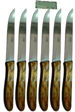 Cuchillos de mesa Celaya Plástico Nácar Marrón Filo Lote 6 Uds.