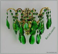 Kristall Wandlampe gefärbtes Echt Kristall in Grün, Rot oder Flieder.