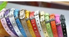 13pcs PU leather Bracelet Wristband Fit 8MM Slide Charm Beads Jewelry Findings