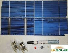 168 3x6 Solar Cell Kit Tabbing Bus Flux Diode B Grade 12V Battery Charging