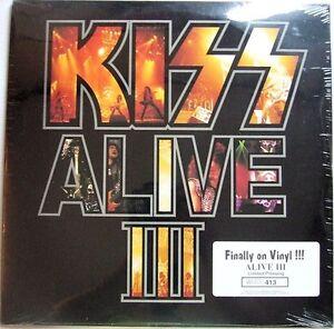KISS - Alive III - 3 sets - RED, WHITE & BLUE VINYL! same number: #873 - SEALED!