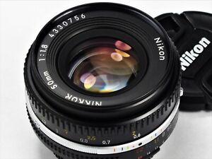 ** MINT L/N ** Nikon NIKKOR 50mm F1.8 Ai-s For F3 FM2 FE2 F2 D700 FA FM3A D750