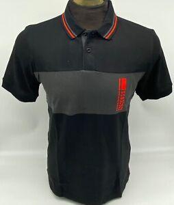 Hugo Boss Polo Men 100% cotton Regular fit Short Sleeve color Black / Red